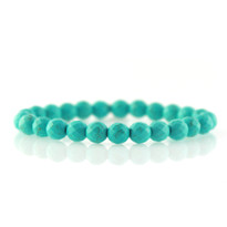 Gemstone Stretch Bracelet with Faceted Turquoise