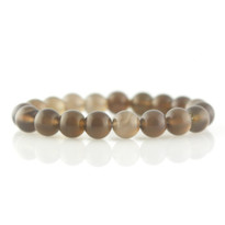 Gemstone Stretch Bracelet with Smokey Quartz
