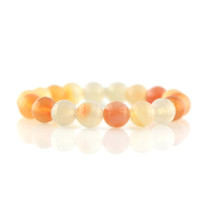 Gemstone Stretch Bracelet with Carnelian