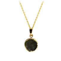 Druzy Necklace in Gold