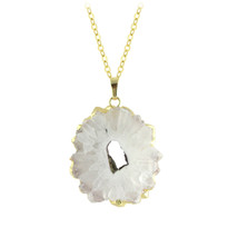 Quartz Starburst Necklace in Gold