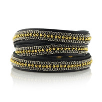 Trail Triple Wrap Bracelet in Black