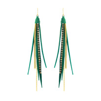 Tassle Earrings In Turquoise