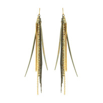 Tassle Earrings In White Gold