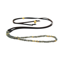Gemma Strand Necklace with Labradorite and Gold