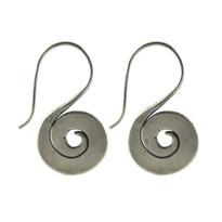 Silver Cosmos Earrings
