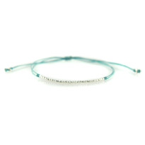 Delicate Silver & Sky Bracelet