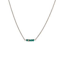 Balance Necklace in Silver with Turquoise