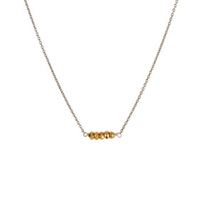 Balance Necklace in Silver with Gold