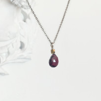 Charmed Necklace in Silver with Garnet