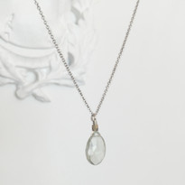 Charmed Necklace in Silver with Green Amethyst