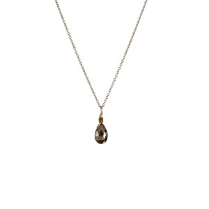 Charmed Necklace in Silver with Pyrite