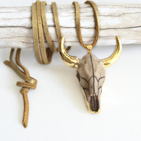 Gold Horns Necklace