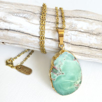 Australian Jade Lilypad Necklace