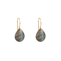Luxe Labradorite Drop Earrings in Gold