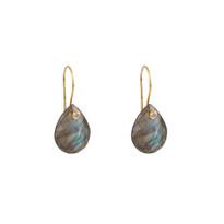 Luxe Labradorite Drop Earrings in Gold