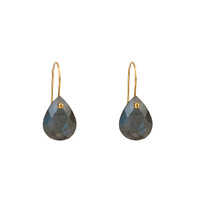 Drop Earrings in Labradorite and Gold