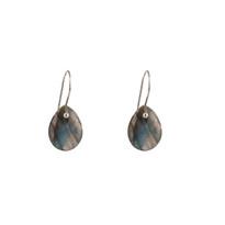 Drop Earrings in Labradorite and Silver