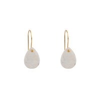 Drop Earrings in Moonstone and Gold