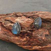 Clandestine Labradorite Post Earrings