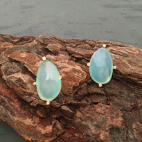 Clarity Aqua Post Earrings