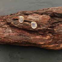 Moonbeam Studs in Gold