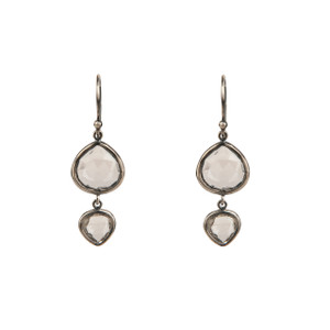 Kasbah Two-Tier Quartz Earrings
