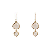 Kasbah Two-Tier Moonstone and Quartz Earrings