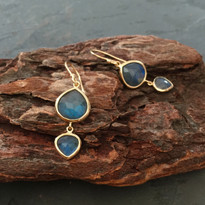 Kasbah Two-Tier Labradorite Earrings