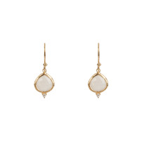 Kasbah Moonstone Earrings in Gold
