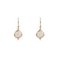 Kasbah Moonstone Earrings in Gold