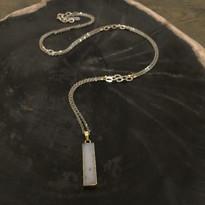 Celeste Druzy Bar Necklace