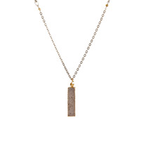 Celeste Druzy Bar Necklace