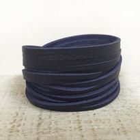 Sliced Wrap Bracelet In Denim