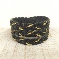 Magic Braid Chain Bracelet in Black