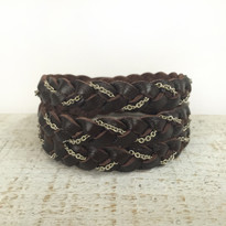 Magic Braid Chain Bracelet in Chocolate