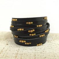 Stargazer Wrap Bracelet In Black And Gold