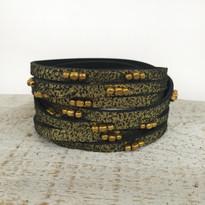 Stargazer Wrap Bracelet In Black Shimmer