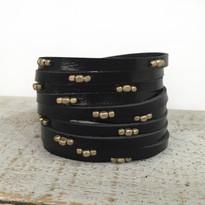 Stargazer Wrap Bracelet In Black And Silver