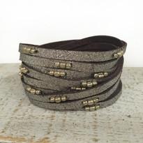 Stargazer Wrap Bracelet In Brown Shimmer