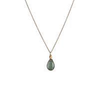 Charmed Necklace in Silver with Moss Aquamarine