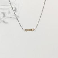 Balance Necklace Silver with Labradorite, Gold