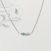 Balance Necklace in Silver with Howlite