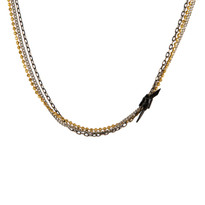 Mixed Chain & Knot Necklace in Black