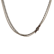 Mixed Chain & Knot Necklace in Brown Shimmer