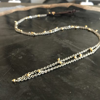 Skylar Pyrite & Chain Necklace in Gold