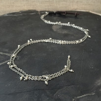Skylar Pyrite & Chain Necklace in Silver