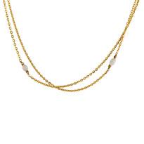 Sakura Moonstone & Gold Necklace