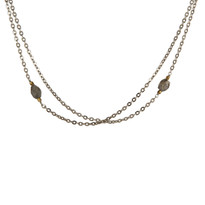 Sakura Labradorite & Silver Necklace