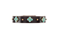 Sabine Leather Bracelet in Gold and Chocolate